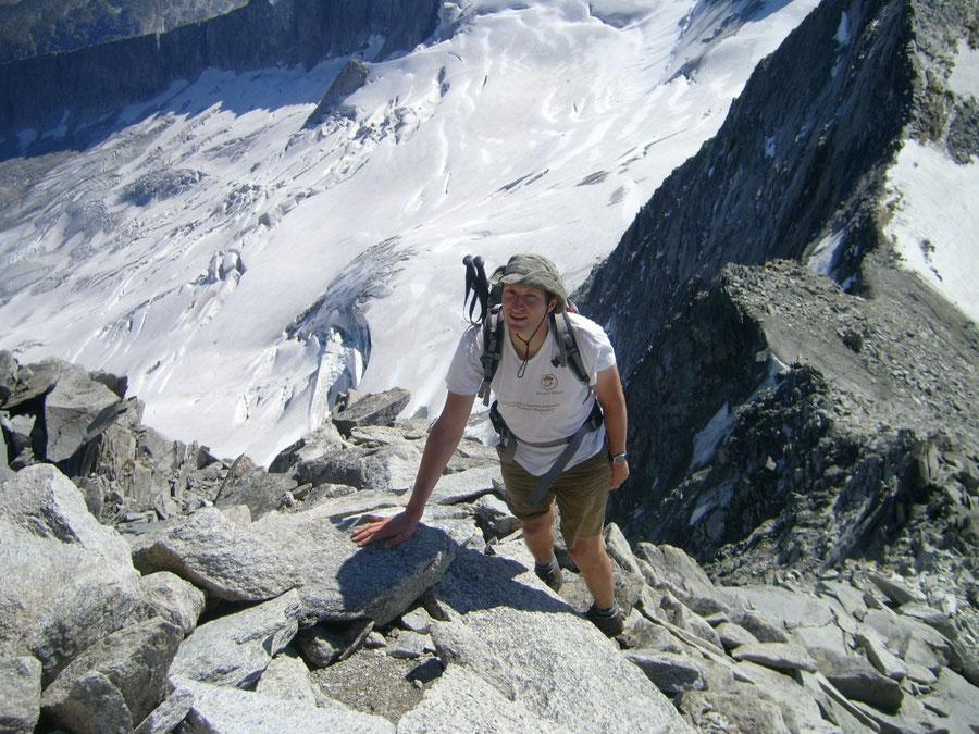 Großer Möseler - Vom Sattel des Kleinen Möselers über den Ostgrat - Bergtour, Zillertaler Alpen, Südtirol, Chemnitzer Hütte