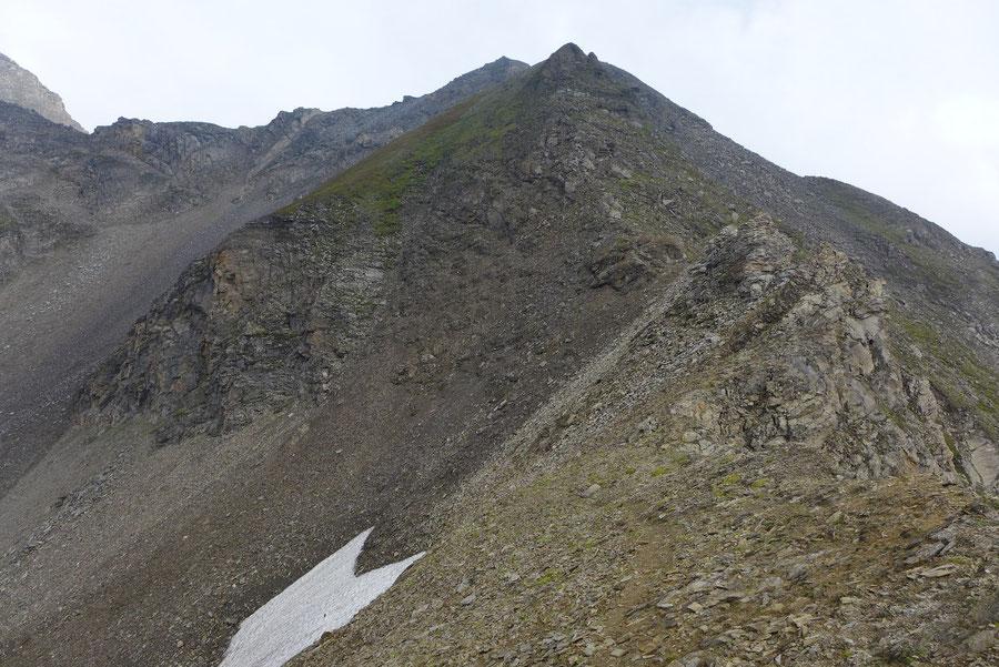 Kapuziner - Obere Pfandlscharte, Blick zum Südostgrat - Bergtour, Großglockner Hochalpenstrasse, Kärnten