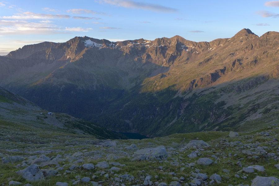 Hochalmspitze - Gießener Hütte vor Reißeckgruppe -  Bergtour, Detmolder Grat, Steinerne Mandln