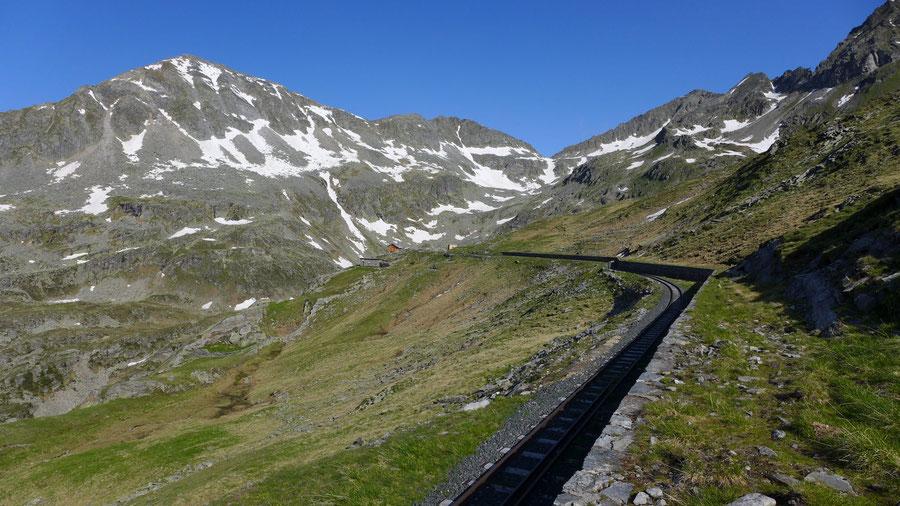 Riedbock - Reißeck-Höhenweg an den Gleisen der Werksbahn - Bergtour, Reißeckgruppe, Mölltal, Kärnten