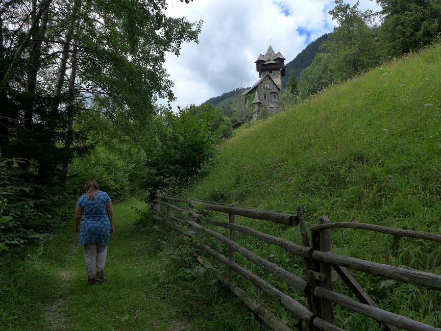Burg Falkenstein - Wanderung oberhalb Gratschach - Obervellach, Mölltal, Kärnten
