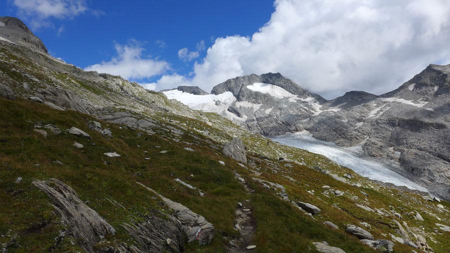 Hochfeiler - Vom Gliderferner zur Hochfeilerhütte - Bergtour, Zillertaler Alpen, Südtirol, Edelrauthütte