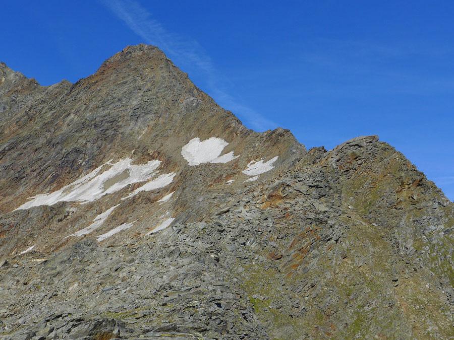 Nördliche Malhamspitze - Bergtour, Ostgrat, Essener-Rostocker-Hütte - Gipfel vom Ostgrat gesehen