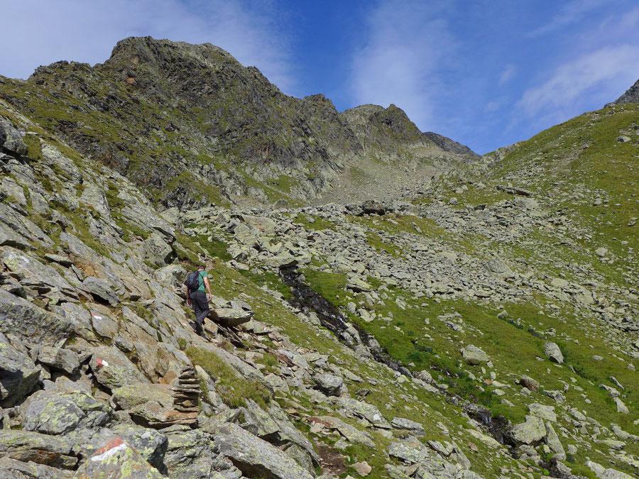 Petzeck Normalweg - Abzweig am Bachlauf - Bergtour, Wangenitzseehütte, Schobergruppe