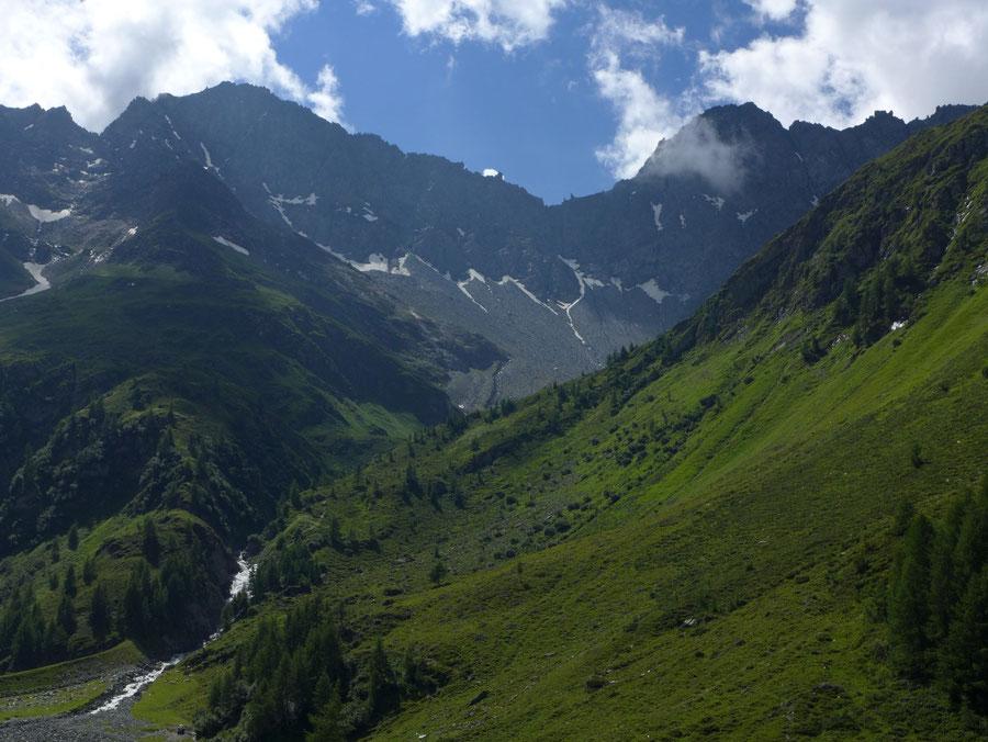 JWD Bergtouren Wildenkogel Frosnitztal Bergkulisse