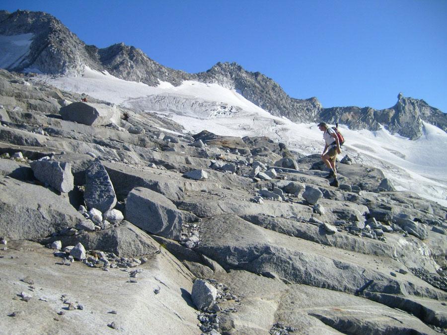 Großer Möseler - Gletscherschliffe - Bergtour, Zillertaler Alpen, Südtirol, Chemnitzer Hütte