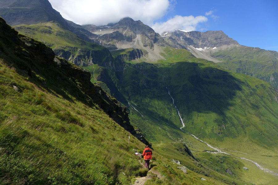 Hagener Hütte - steiler Abstieg - Wanderung, Mallnitzer Tauern, Jamnigalm, Sportgastein