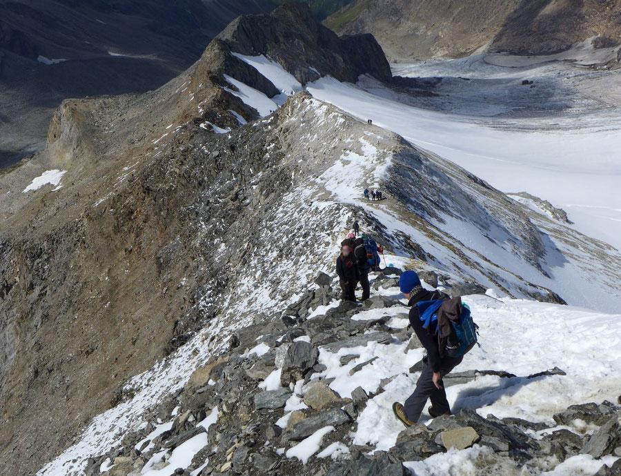 Hochfeiler - Oberer Südwestgrat ausgesetzt - Normalweg, Bergtour, Zillertaler Alpen, Südtirol