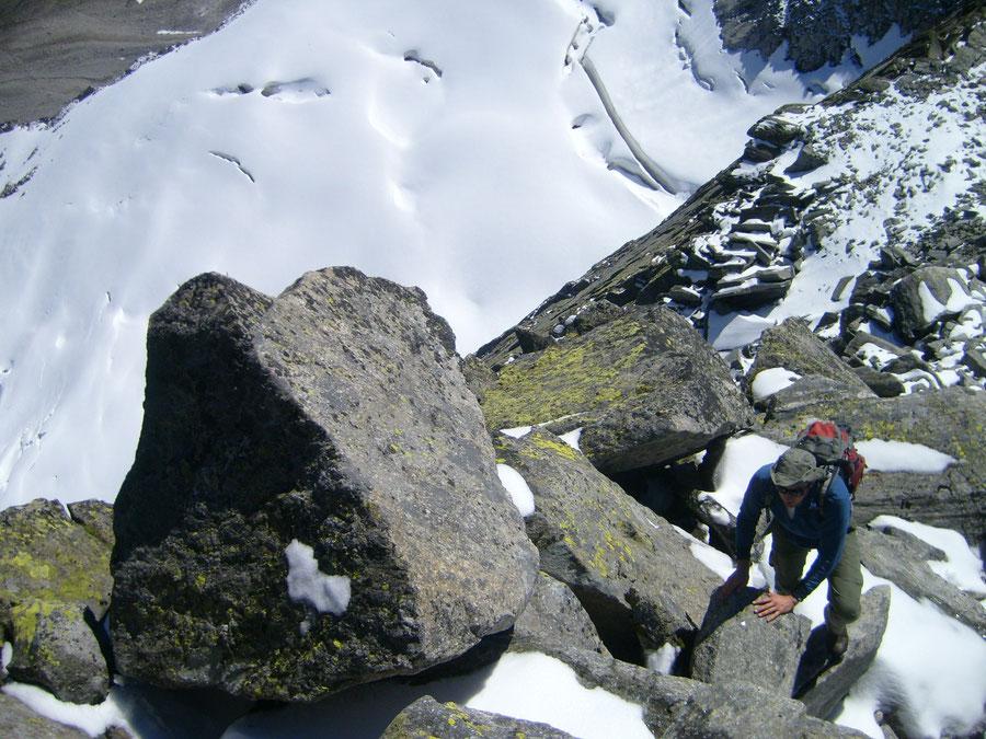 Rosswandspitze - Blockkletterei am Südgrat - Bergtour, Zillertaler Alpen, Tirol