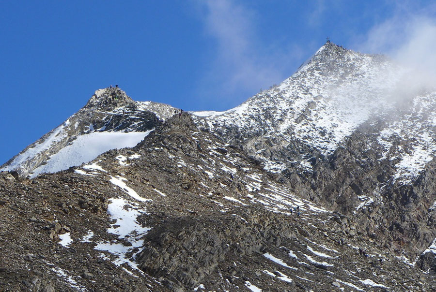 Hochfeiler - Südwestgrat in 3200 m - Normalweg, Bergtour, Zillertaler Alpen, Südtirol