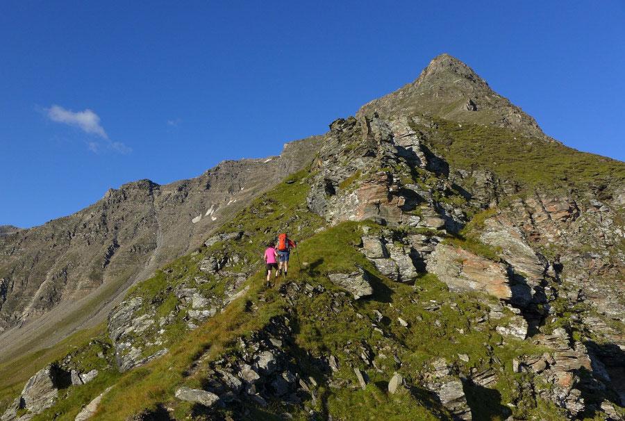 Schareck Neuwirtsteig - Nordostgrat oberhalb der Scharte - Bergtour, Klettersteig, Sportgastein