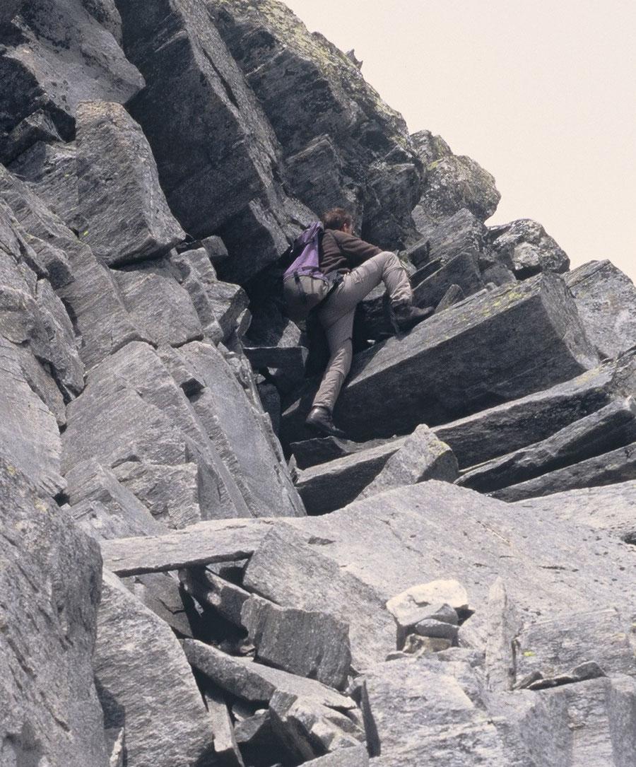 Hoher Weißzint - Kletterei hinauf zum Südwestgrat - Bergtour, Zillertaler Alpen, Südtirol, Edelrauthütte