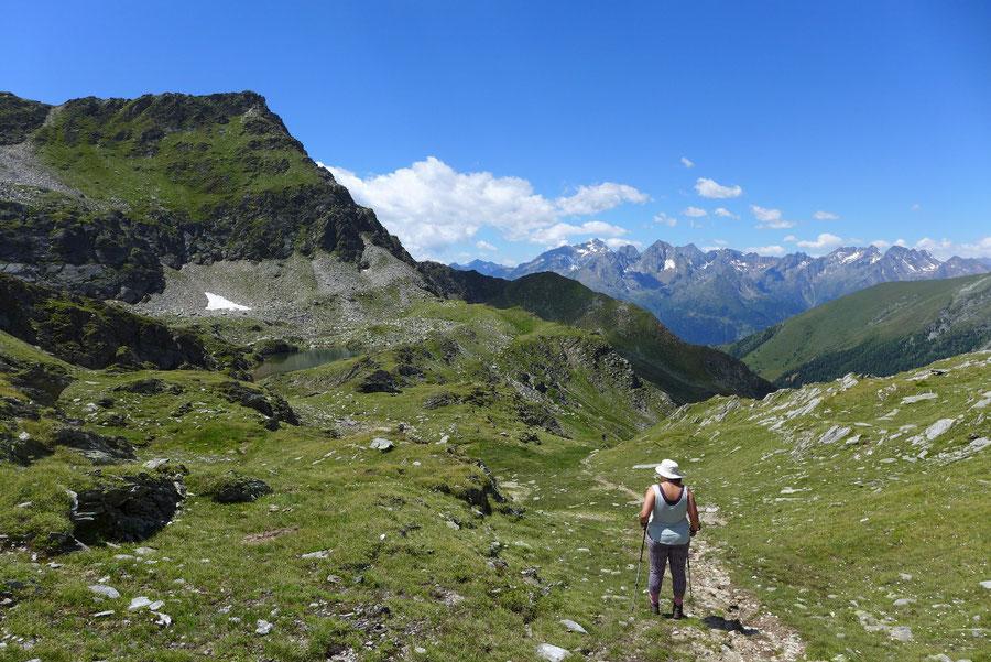 Hoher Sadnig - Sadnigscharte, Abstieg zum Sadnighaus - Bergtour, Fraganter Hütte