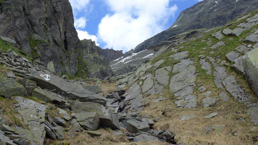 Reißeck Höhenweg - Aufstieg Rossalmscharte - Bergtour, Reißeckgruppe, Kärnten