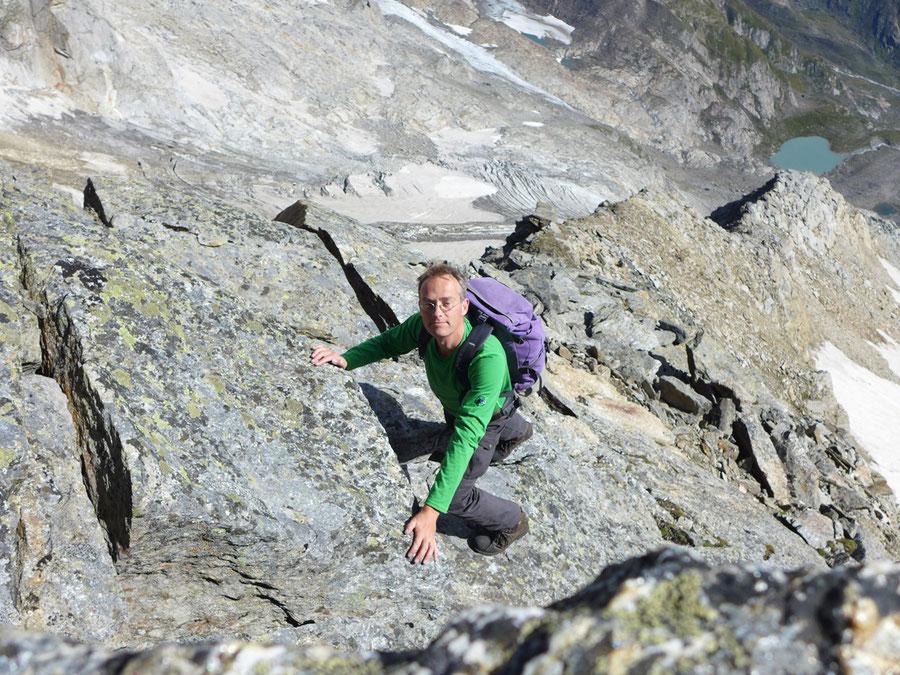 Nördliche Malhamspitze - Bergtour, Ostgrat, Essener-Rostocker-Hütte - Kletterei im 2. Grad