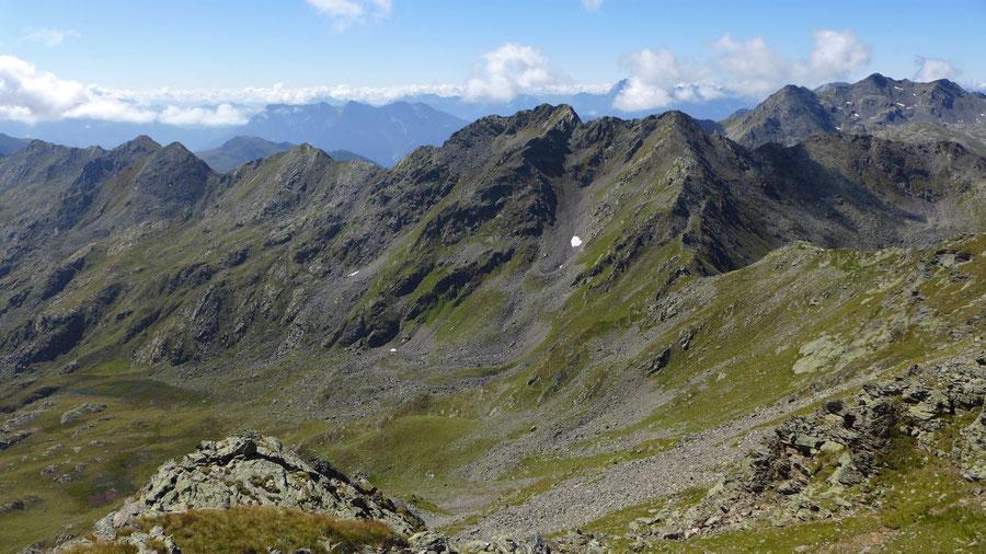 Rothorn - Nordseite mit Glenktörl - Bergtour, Kreuzeckgruppe, Kärnten