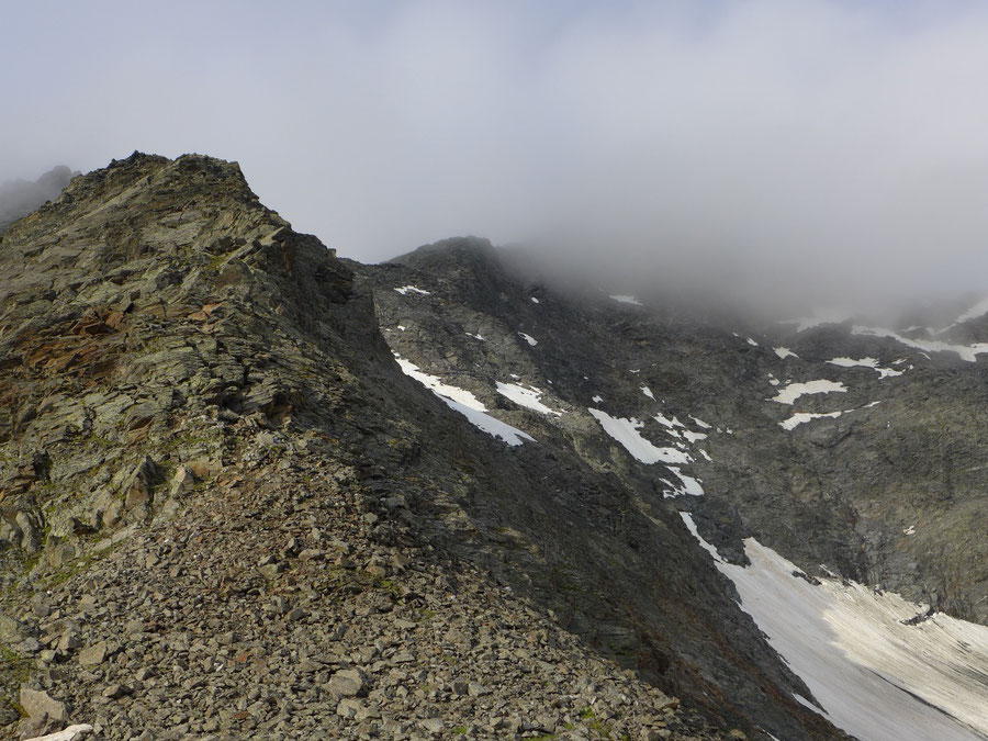 JWD Bergtouren Keeseck Nordgrat Einstieg