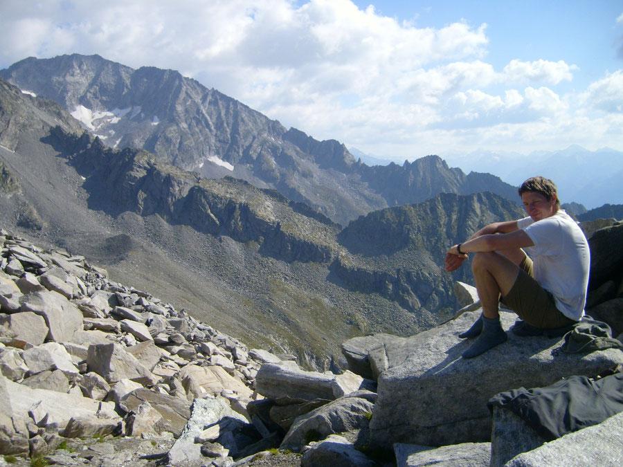 Stabeler Höhenweg - Gelenkscharte Blick Schwarzenstein - Bergtour, Zillertaler Alpen, Südtirol
