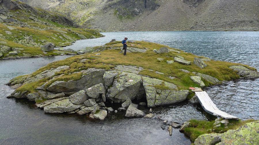 Wangenitzsee - Ostufer Halbinsel - Rundwanderung, Wangenitzseehütte, Schobergruppe