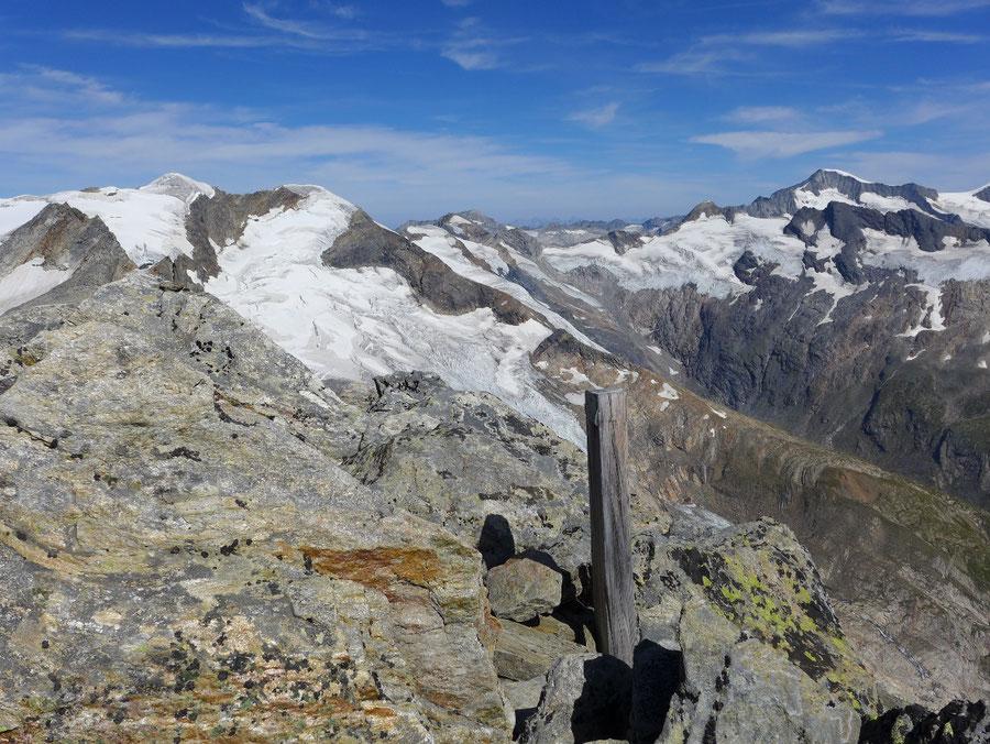 Nördliche Malhamspitze - Bergtour, Ostgrat, Essener-Rostocker-Hütte - Gipfel Panorama