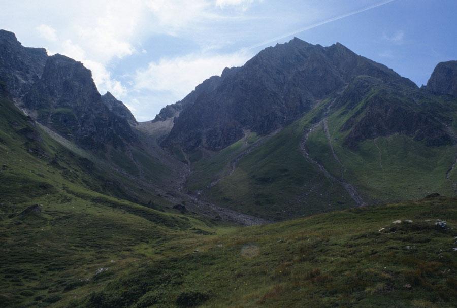 Pfunderer Höhenweg - Joch in der Enge Nordostseite - Wanderung, Pfunderer Berge, Südtirol