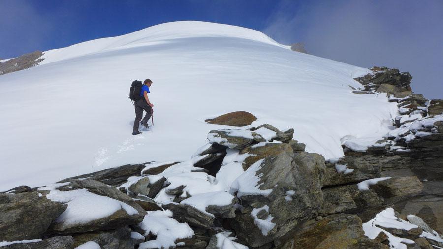Östliche Simonyspitze - Südostgrat, Eiskuppel des Gipfels - Bergtour, Essener-Rostocker-Hütte, Osttirol