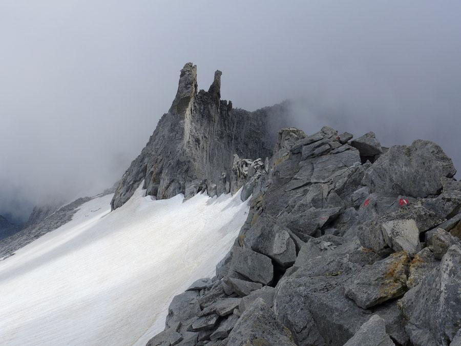 Hochalmspitze - Steinerne Mandln -  Bergtour, Detmolder Grat, Gießener Hütte