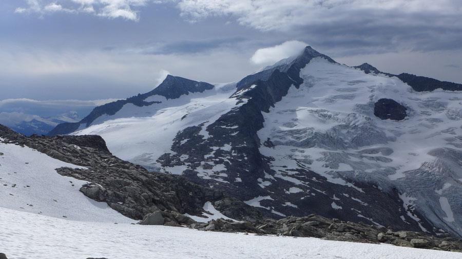 Großvenediger - Bergtour, Gletschertour, Kürsinger Hütte - Venedigerscharte und Obersulzbachkees vom Keeskogel