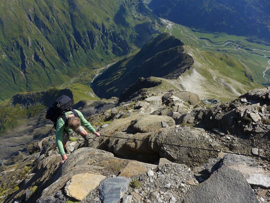 Schareck Neuwirtsteig - Ausgesetztheit am Aperen Schareck - Bergtour, Klettersteig, Sportgastein