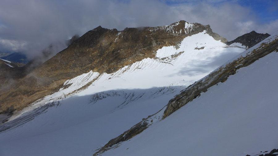 Hochfeiler - Blick zum Hochferner - Normalweg, Bergtour, Zillertaler Alpen, Südtirol