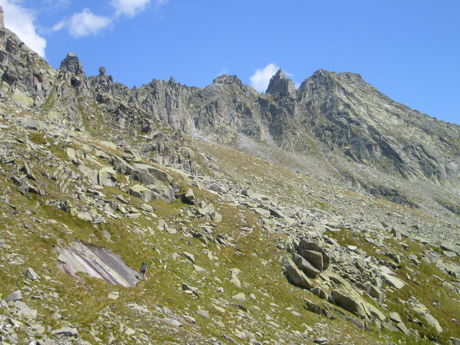 Stabeler Höhenweg - Schwarzenbachtal Aufstieg Törler Zwilcher - Bergtour, Zillertaler Alpen, Südtirol