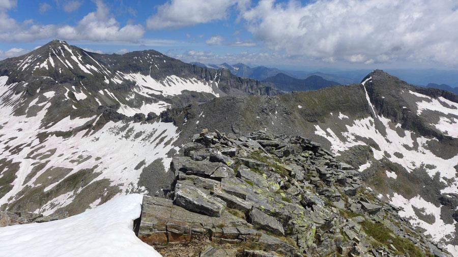 Riedbock - Gipfel Blick zu Reißeck und Radleck - Bergtour, Reißeckgruppe, Mölltal, Kärnten
