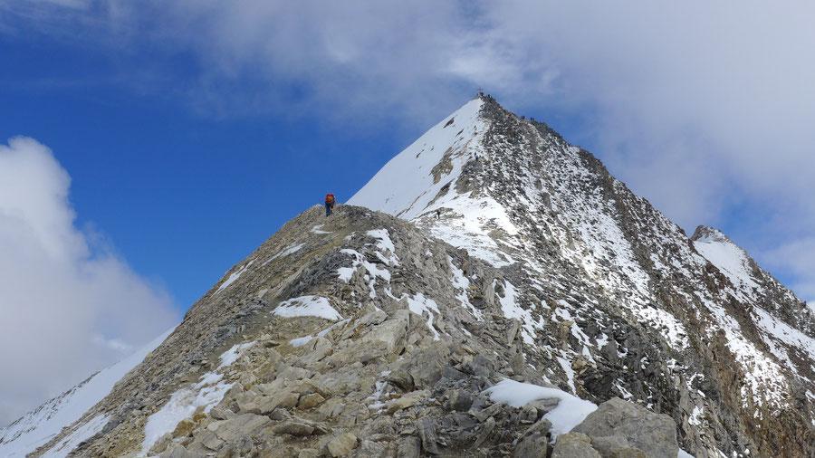 Hochfeiler - Südwestgrat in 3400 m - Normalweg, Bergtour, Zillertaler Alpen, Südtirol