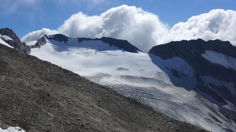 Hoher Weißzint - Nordseite mit Gliderferner - Bergtour, Zillertaler Alpen, Südtirol