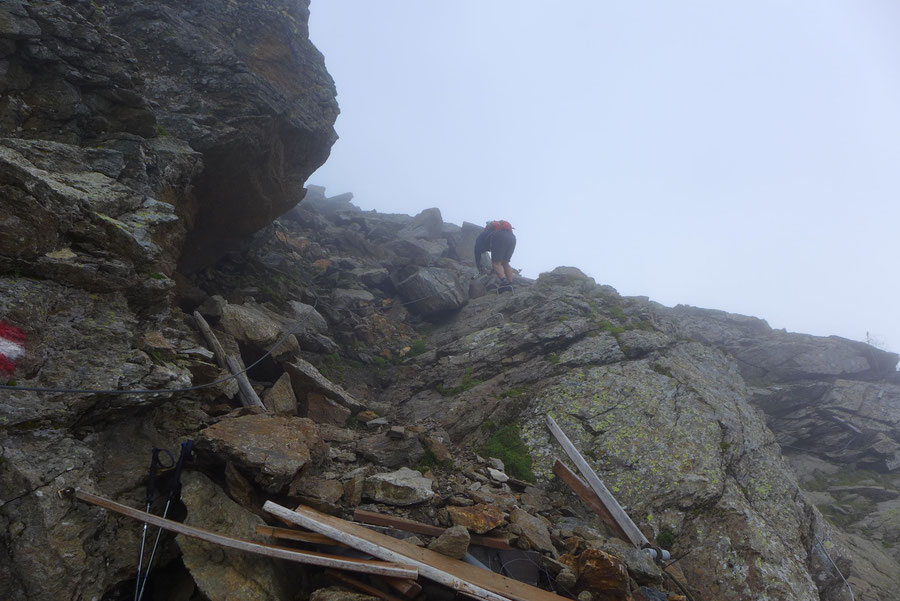 Polinik - Schuttrinne, Sicherungen - Normalweg, Bergtour, Kreuzeckgruppe, Kärnten