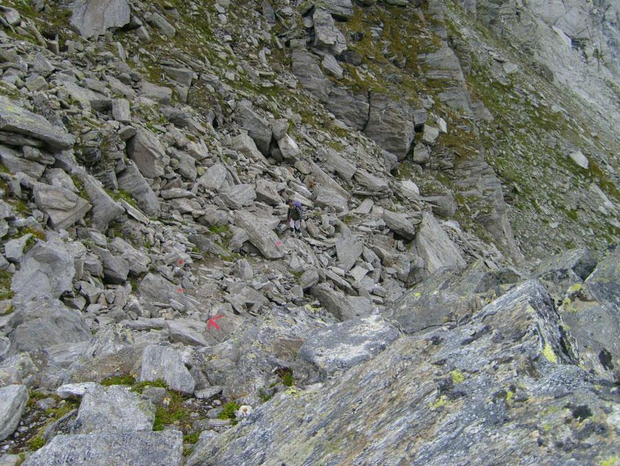Lapenscharte - Ostseite der Scharte - Kasseler Hütte, Greizer Hütte - Wanderung, Bergtour, Zillertaler Alpen