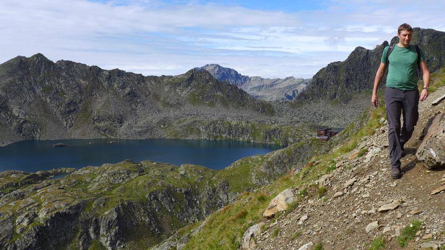 Petzeck Normalweg - Querung, gesicherte Stelle - Bergtour, Wangenitzseehütte, Schobergruppe
