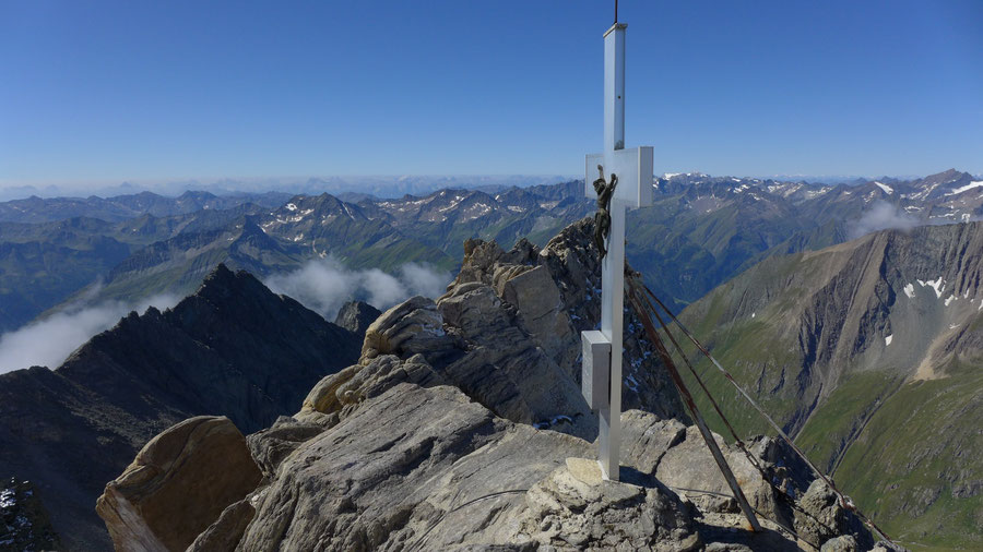 Hoher Eichham - Gipfelkreuz - Bergtour, Südgrat, Bonn-Matreier-Hütte, Osttirol