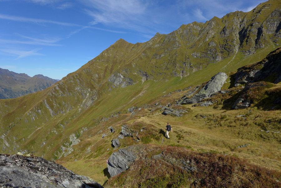 Krefelder Weg - einsames Wurfkar - Rudolfshütte, Krefelder Hütte, Bergtour, Tauern