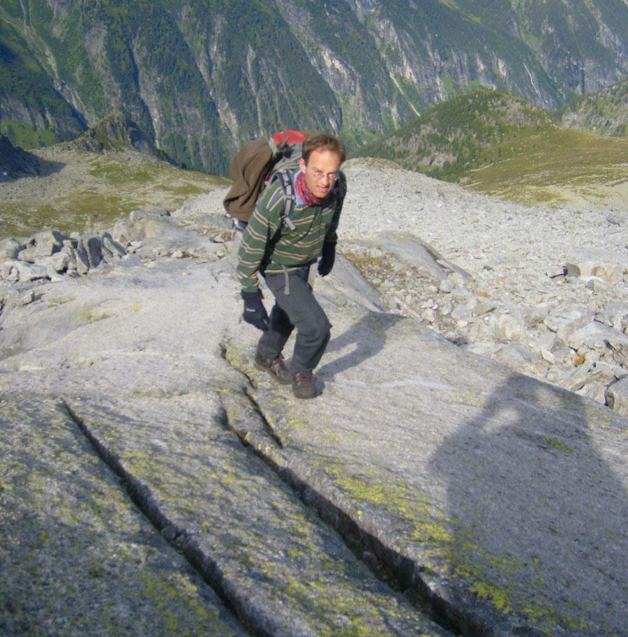Rosswandspitze - steile Gletscherschliffe - Bergtour, Zillertaler Alpen, Tirol
