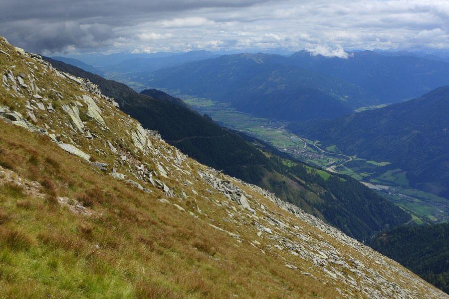 Kampleck - Mölltal in der Sicht vom Kampleck - Bergtour, Reißeckgruppe, Mölltal, Kärnten