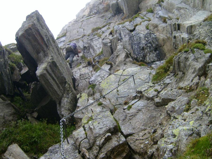 Pfunderer Höhenweg - Gaisscharte Sicherungen - Wanderung, Pfunderer Berge, Südtirol