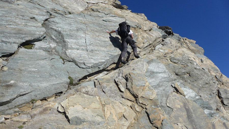 Hoher Eichham - Südgrat, schmales Felsband - Bergtour, Bonn-Matreier-Hütte, Osttirol