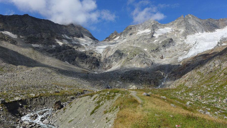 Simonysee - Wanderung, Essener-Rostocker-Hütte, Venedigergruppe - Steig u. Gletscherbach