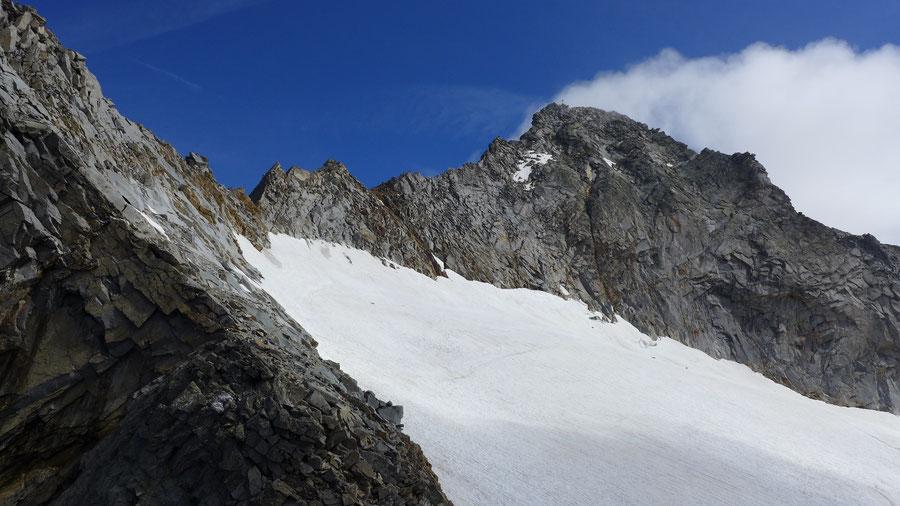 Hochalmspitze - Detmolder Grat Einstieg -  Bergtour, Steinerne Mandln, Gießener Hütte