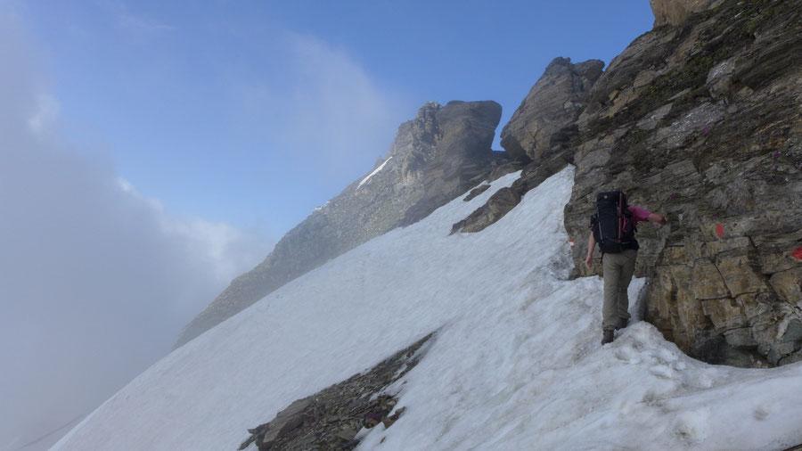 Vorderer Geiselkopf - Nordostgrat, Querung Firnfeld - Bergtour, Hagener Hütte