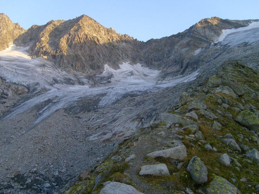 Großer Löffler - Kegelgasslalm Aufstieg über Moränen - Bergtour, Zillertaler Alpen, Ahrntal, Südtirol