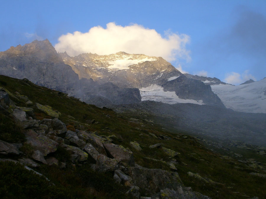 Lapenscharte - Großer Löffler über der Greizer Hütte - Kasseler Hütte - Wanderung, Bergtour, Zillertaler Alpen