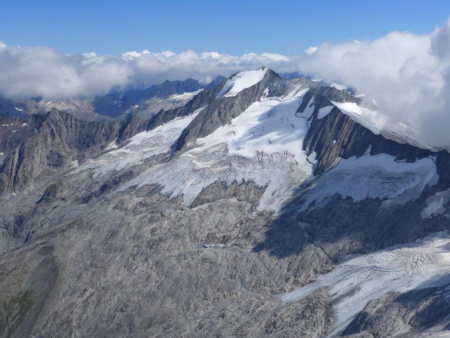 JWD Bergtouren Zillertaler Alpen Großer Möseler Gletscherrückgang