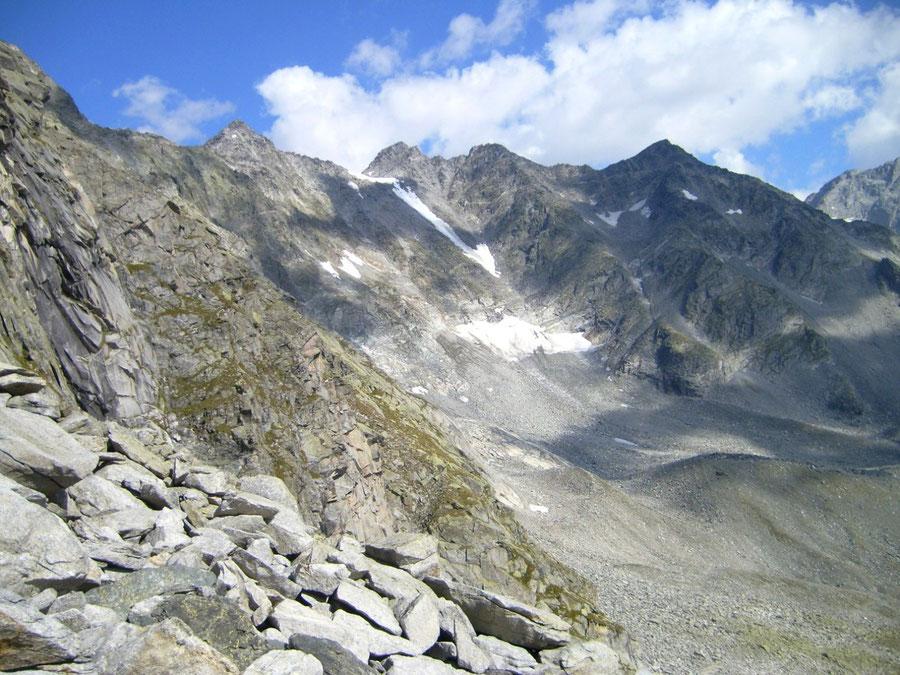 Stabeler Höhenweg - Gelenkscharte Blick Hornspitzen - Bergtour, Zillertaler Alpen, Südtirol